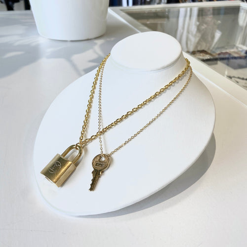 Vintage Edition - Repurposed Louis Vuitton Padlock Chain Necklace