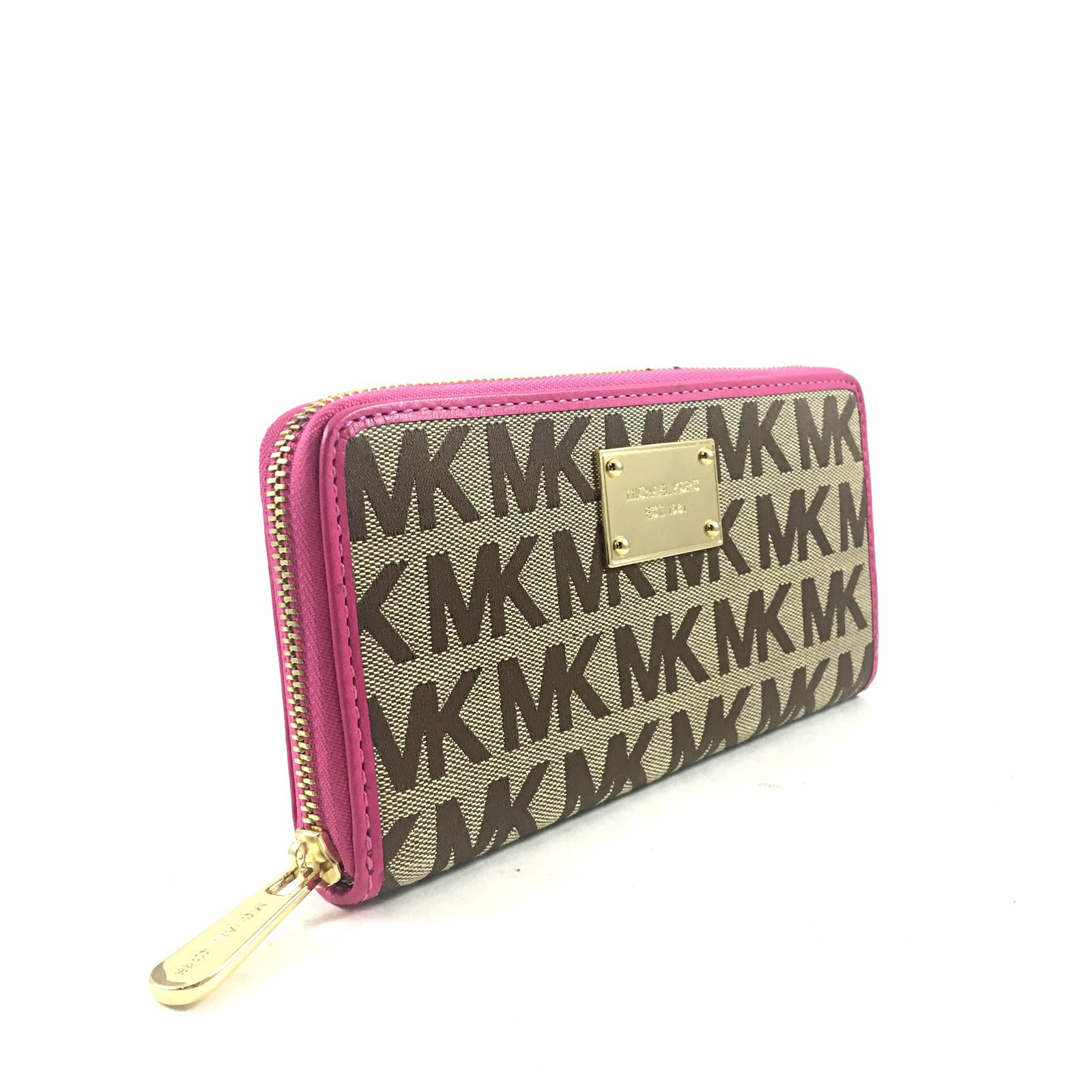 Canvas Wallet with Hot Pink trim