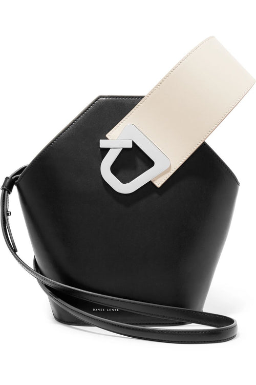 Johnny two-tone leather bucket bag