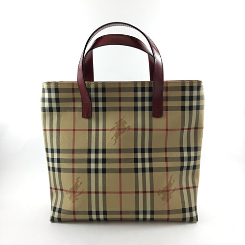 Coated Canvas Check Tote