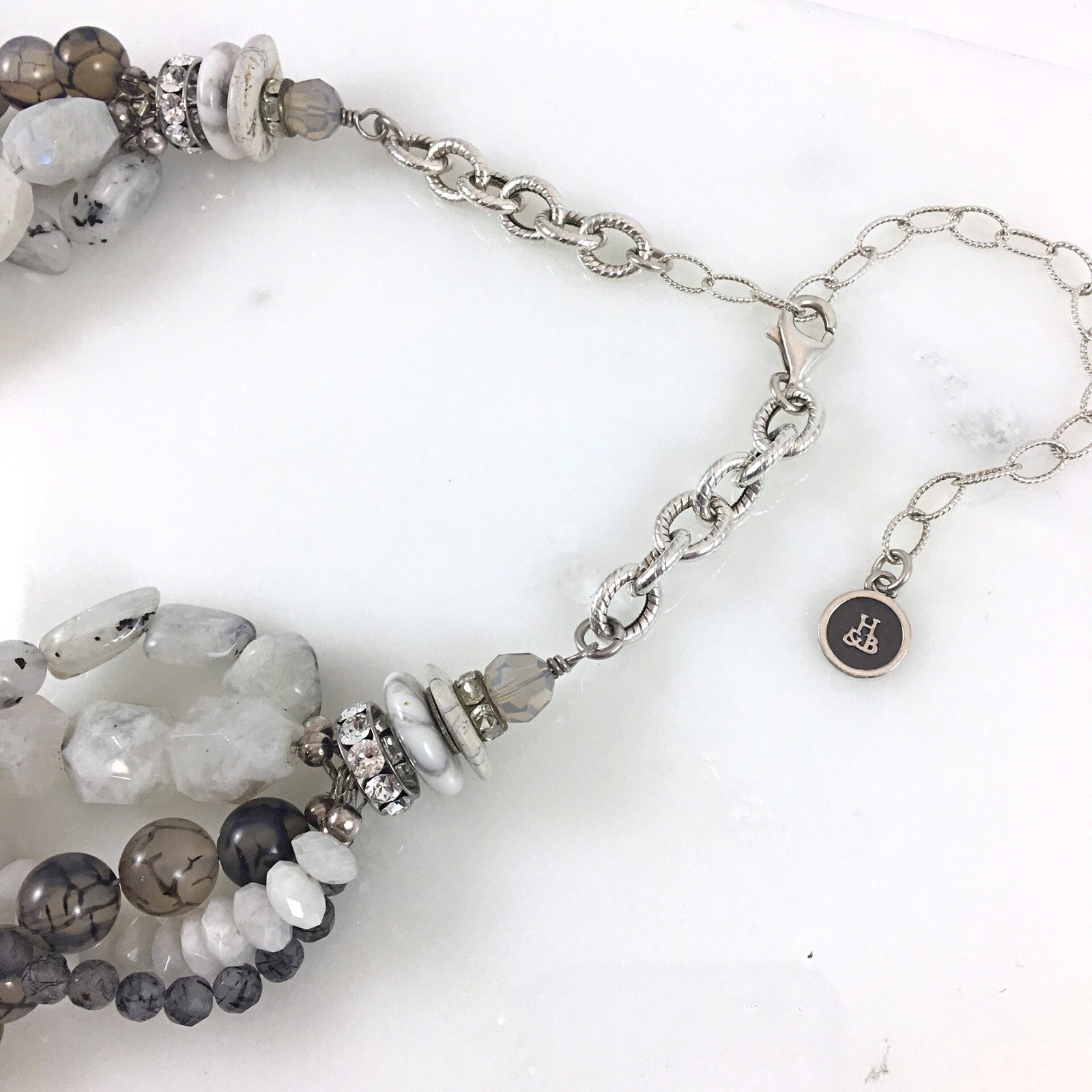 Multi-Strand Moonstone Mix Necklace