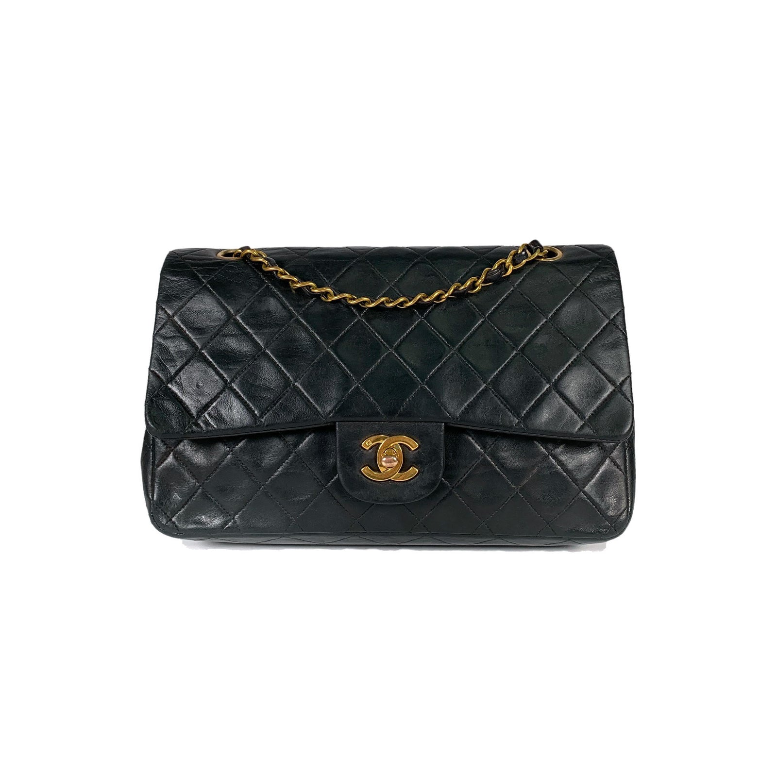 Lambskin Quilted Medium Double Flap