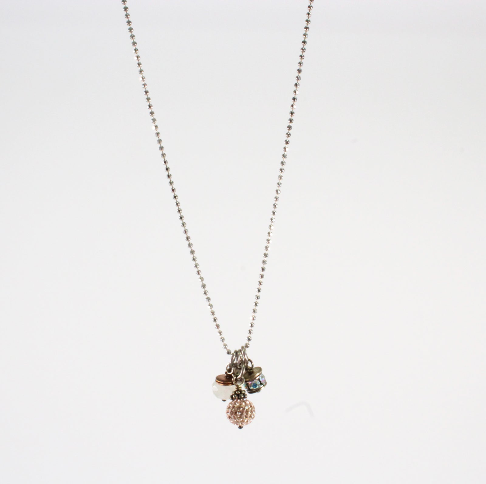 Rose Gold Cluster Necklace