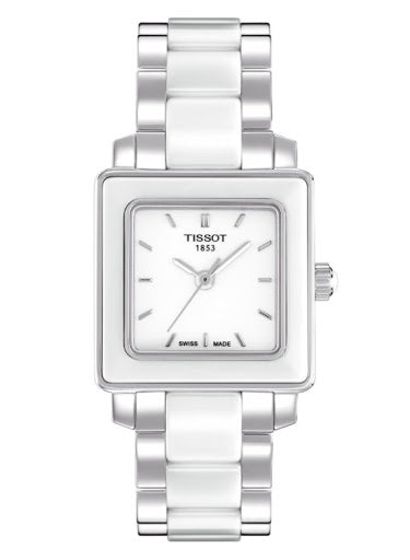 Ladies Cera Square White Ceramic