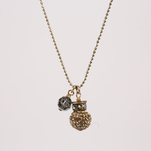 Gold Sparkle Ball Necklace