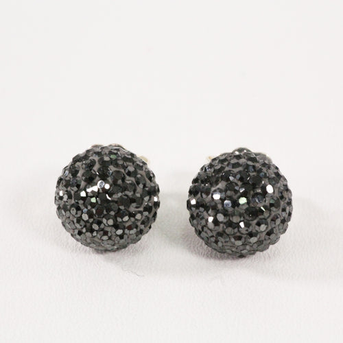 Hematite Sparkle Ball Earrings