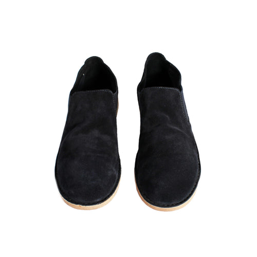 Navy Loafer Slides