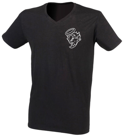 Embroidered Devil Head Black Tshirt