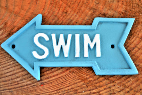 Cast Iron Plaque | Swim Arrow