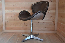 Vintage Leather Swivel Petal Chair - DemXx Online