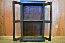 Wood & Glass Cabinet | Blue