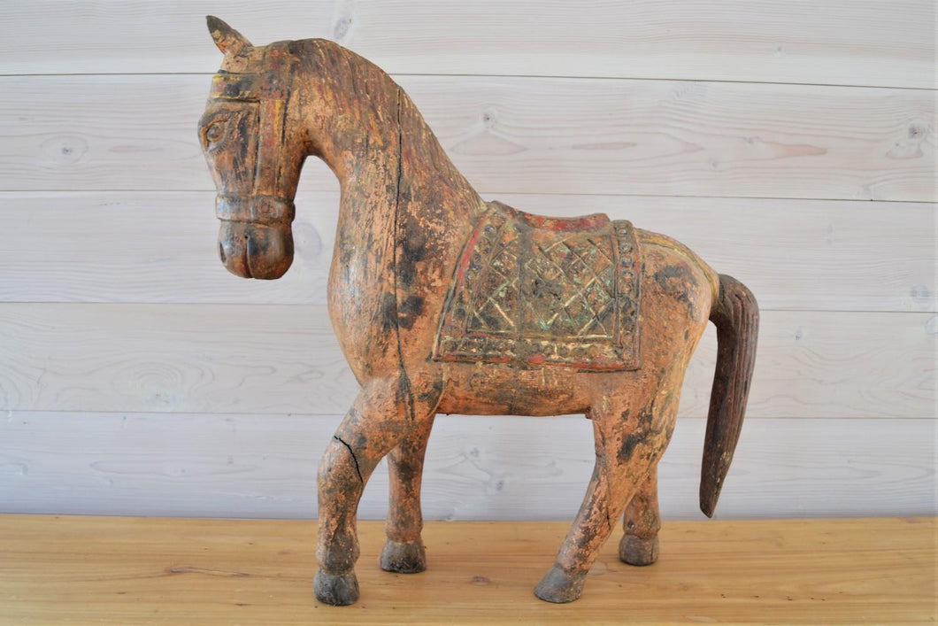 Wooden Painted Horse | Small