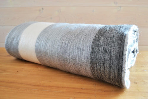 Alpaca Blanket Stripe Moonstone - DemXx Online - luxurious, fair trade, home decor, gifts