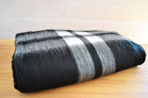 Alpaca Blanket Tartan Ink - DemXx Online - luxurious, fair trade, home decor, gifts