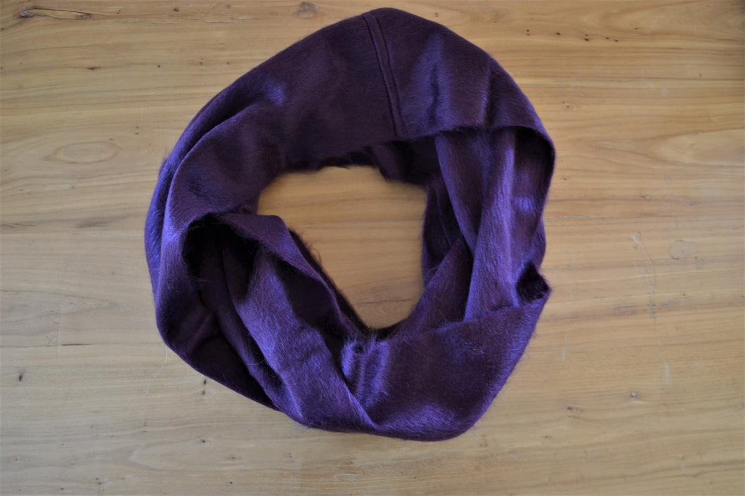 Alpaca Infinity Scarf Eggplant - DemXx Online - luxurious, fair trade, home decor, gifts