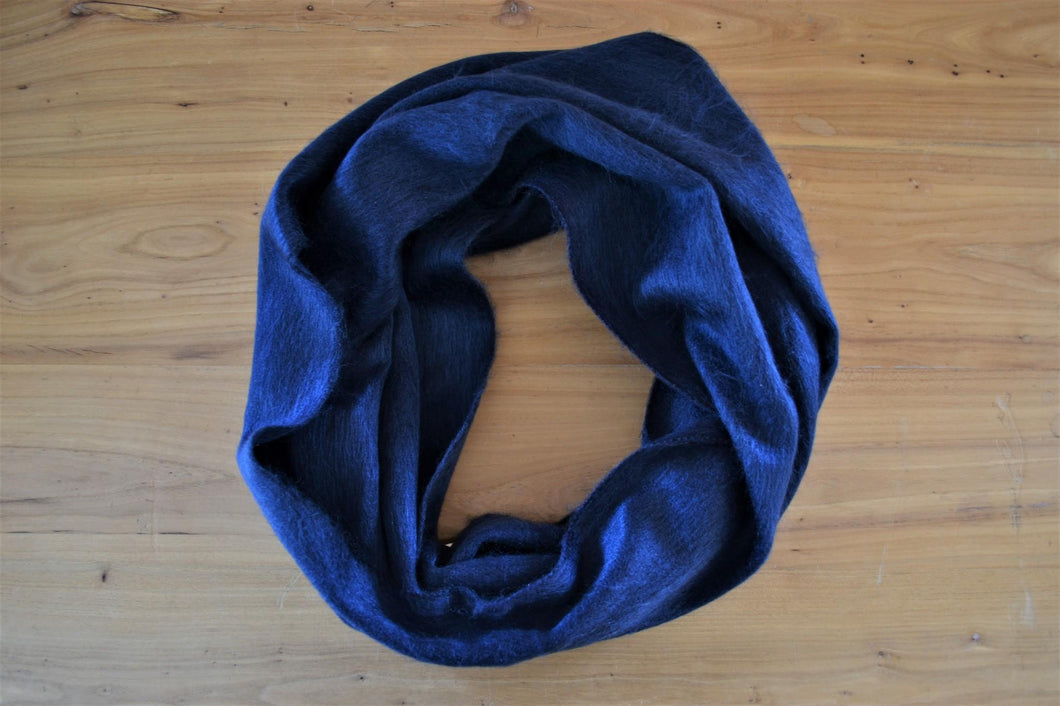 Alpaca Infinity Scarf Navy - DemXx Online - luxurious, fair trade, home decor, gifts