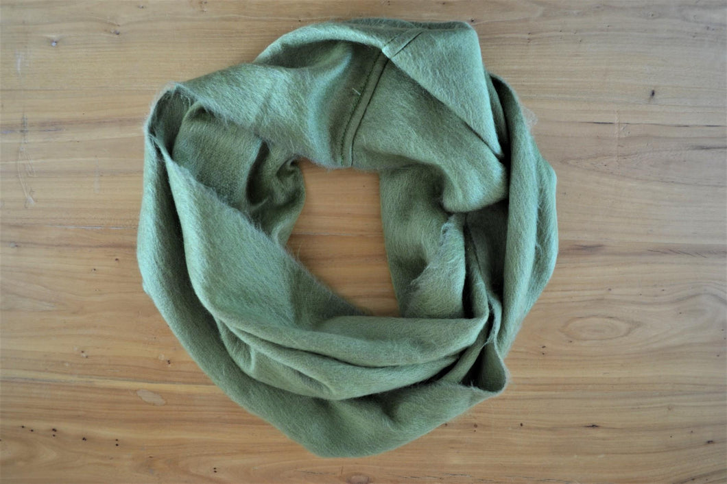 Alpaca Infinity Scarf Olive - DemXx Online - luxurious, fair trade, home decor, gifts