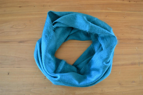 Alpaca Infinity Scarf Teal - DemXx Online - luxurious, fair trade, home decor, gifts