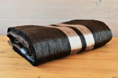 Alpaca Blanket Tartan Chocolate - DemXx Online - luxurious, fair trade, home decor, gifts
