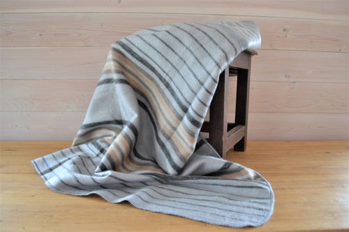 Alpaca Throw Stripe Silver - DemXx Online - luxurious, fair trade, home decor, gifts