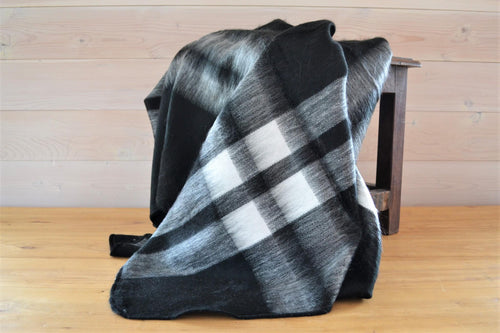 Alpaca Throw Tartan Ink - DemXx Online - luxurious, fair trade, home decor, gifts