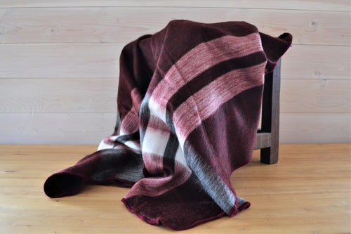 Alpaca Throw Tartan Currant - DemXx Online - luxurious, fair trade, home decor, gifts