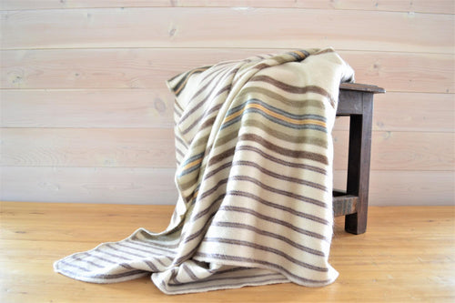 Alpaca Throw Caramel Stripe - DemXx Online - luxurious, fair trade, home decor, gifts