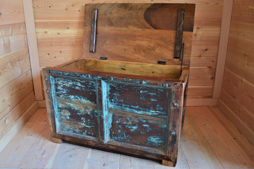 Reclaimed Blanket Box - DemXx Online - Blue Distressed