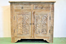 Carved White Washed Sideboard - DemXx Online