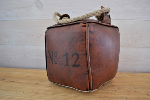 Leather & Canvas Door Stop