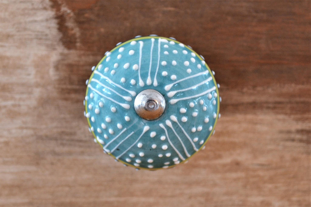 Ceramin Knob | Teal Pincushion