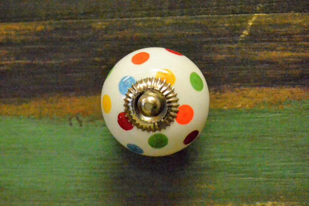 Ceramic Knob | Polka Dot