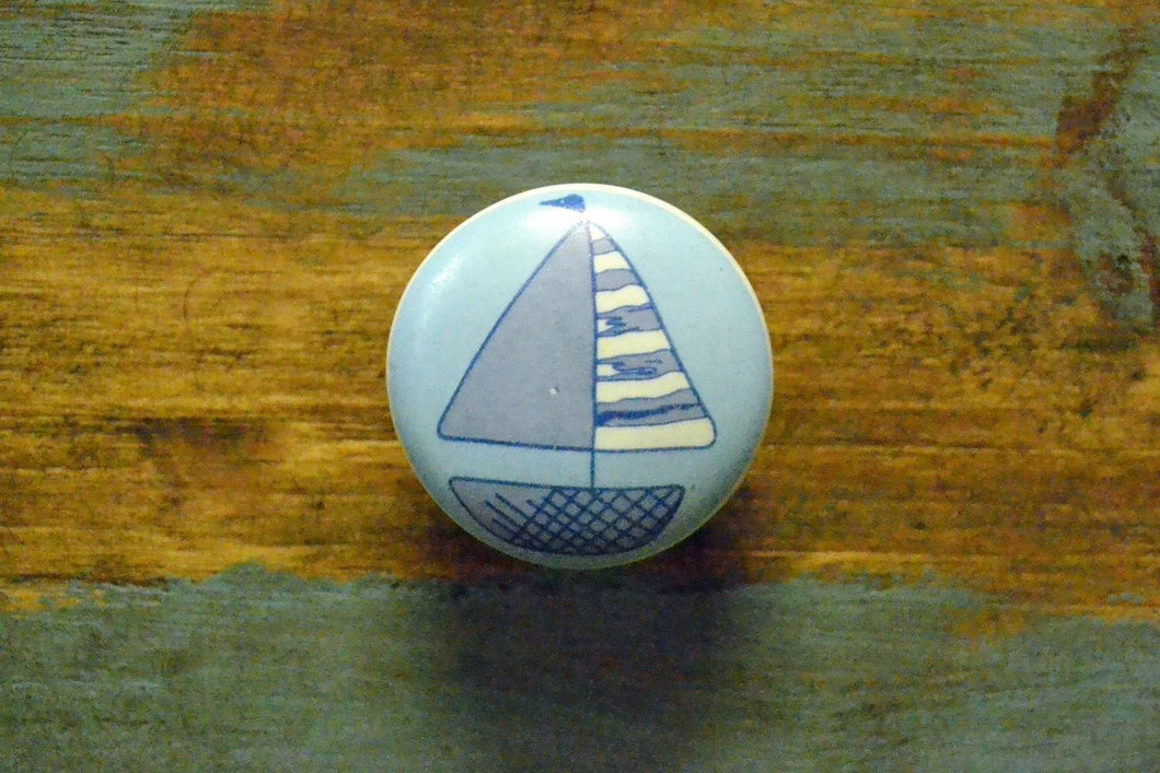 Ceramic Knob | Sailboat