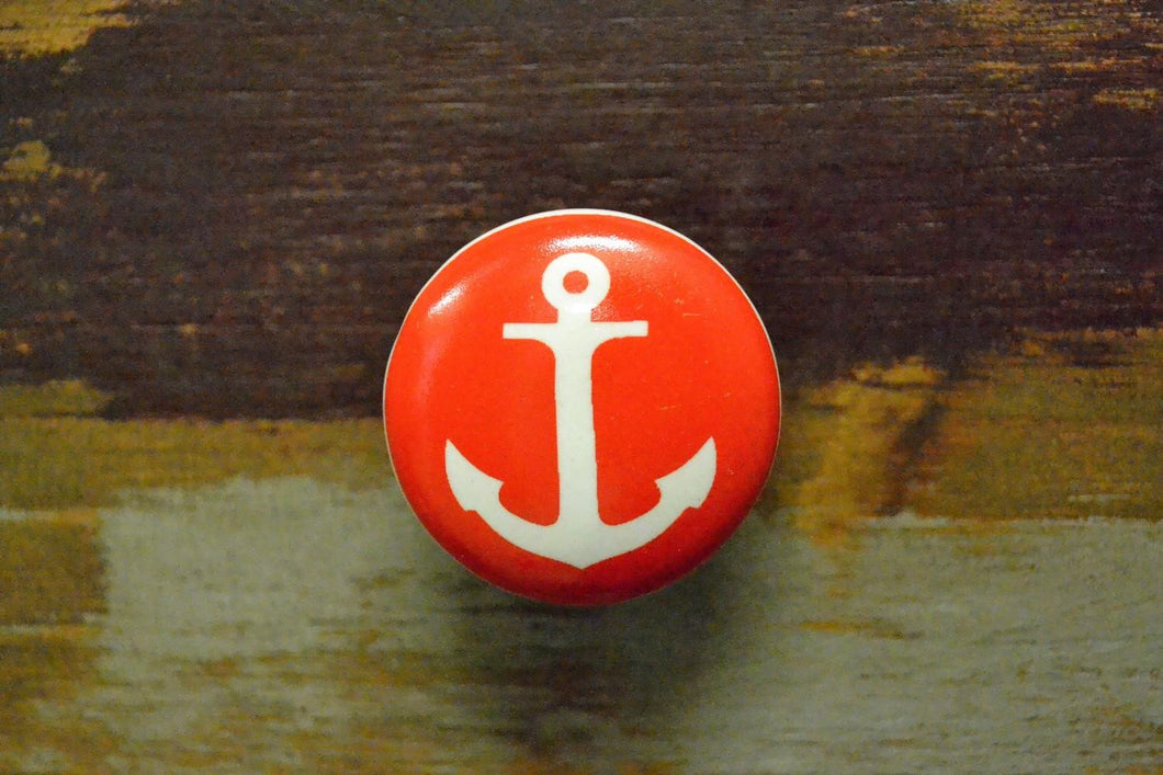 Ceramic Knob | Red Anchor
