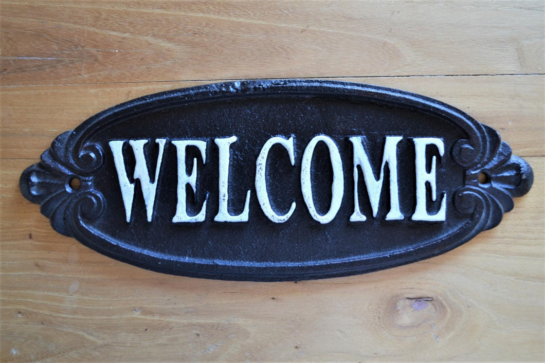 Cast Iron Plaque | Welcome