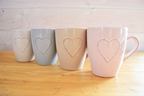 Ceramic Mug | Embossed Heart