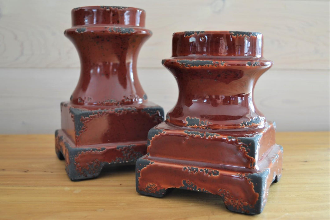 Ceramic Candle Stands | Set of 2