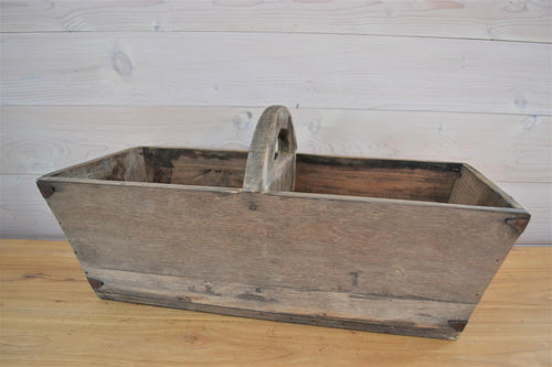 Double Wooden Box with Handle