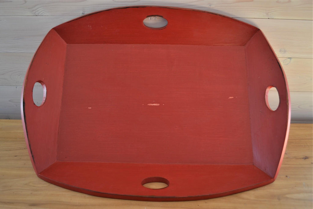 Mahogany Serving Tray | Red