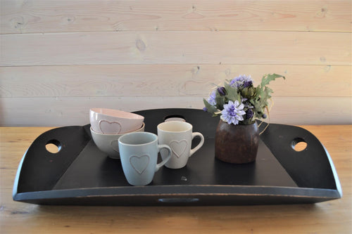 Mahogany Serving Tray | Distressed Black