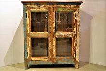 Reclaimed Cabinet with Glass Panels | Colour Distressed
