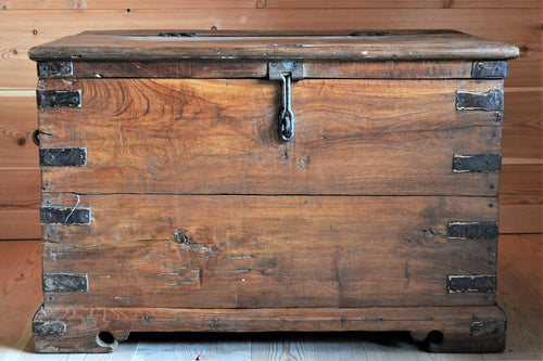 Authentic Wooden Trunk with Compartments