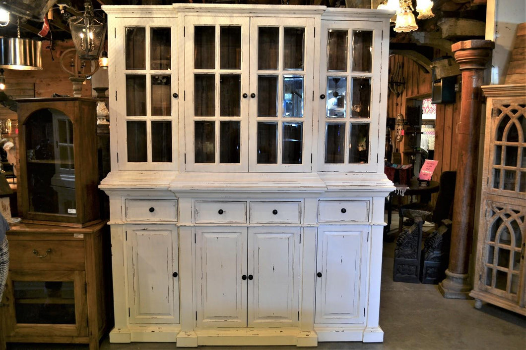 Country Chic Mahogany Hutch - DemXx Online