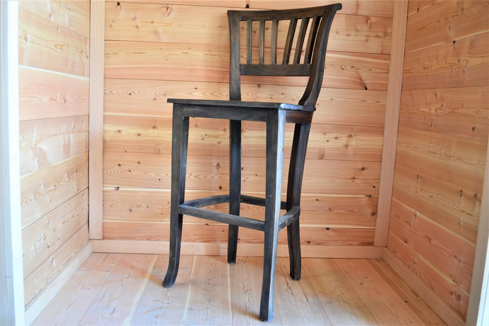 Mahogany Slatted Back Bar Stool - DemXx Online
