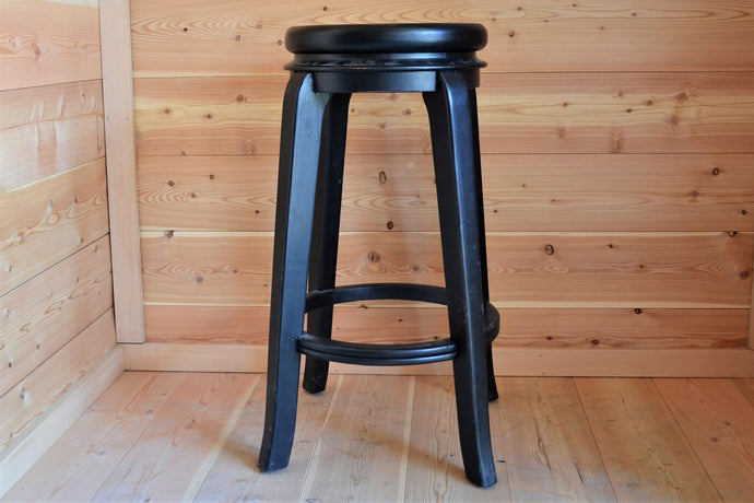 Mahogany Round Top Bar Stool - DemXx Online