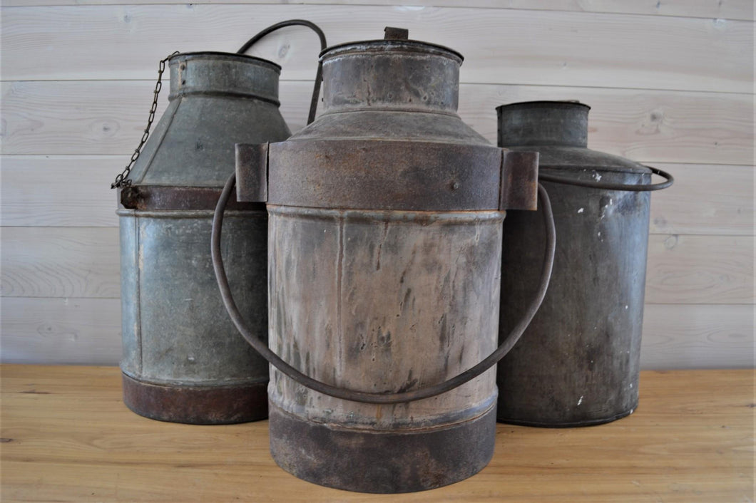 Iron Milk Cans | Large