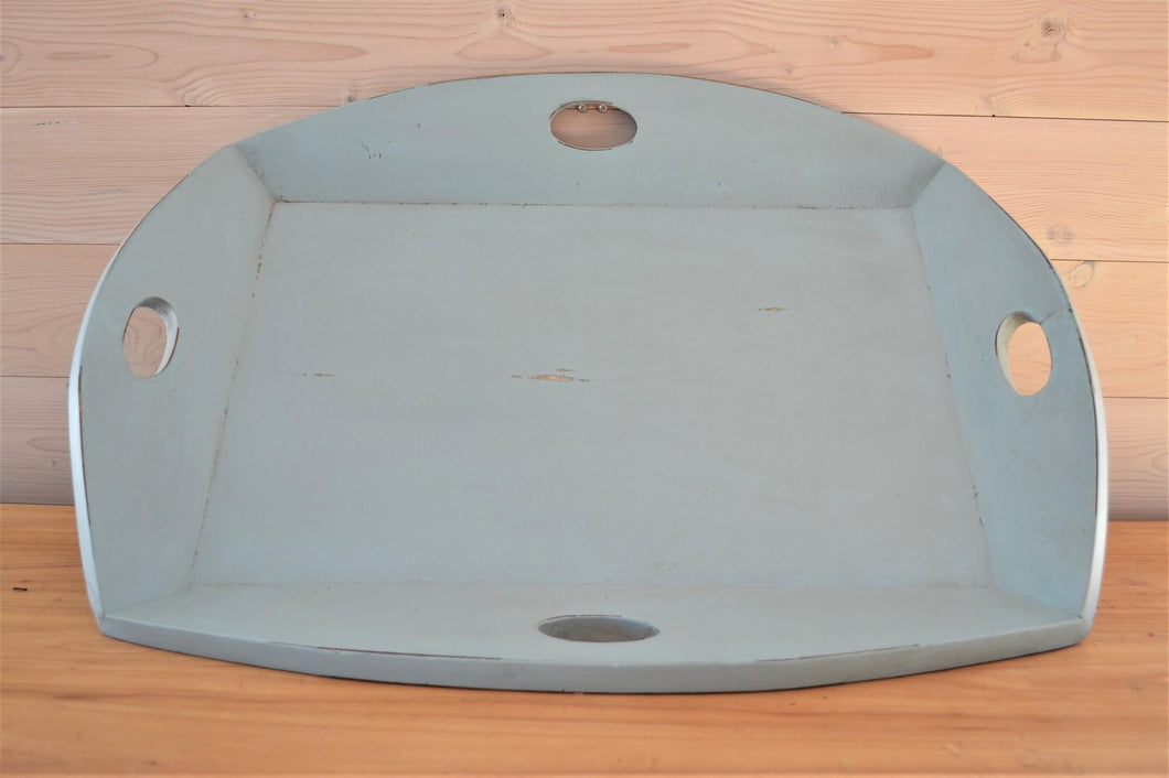 Mahogany Serving Tray | Periwinkle Blue