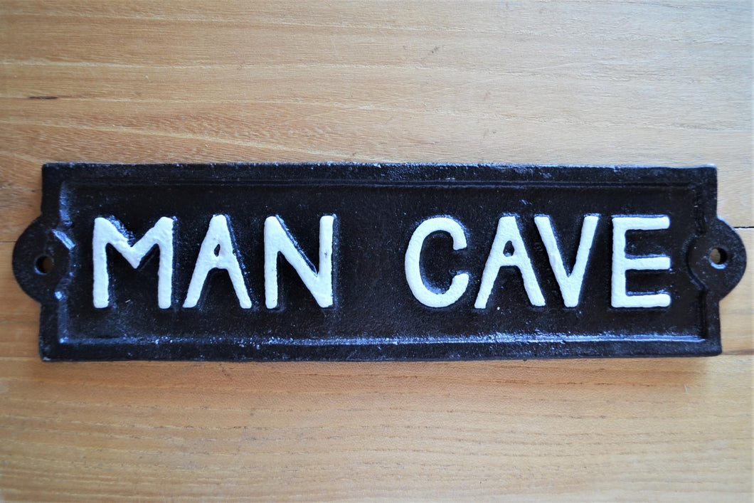 Cast Iron Plaque | Man Cave
