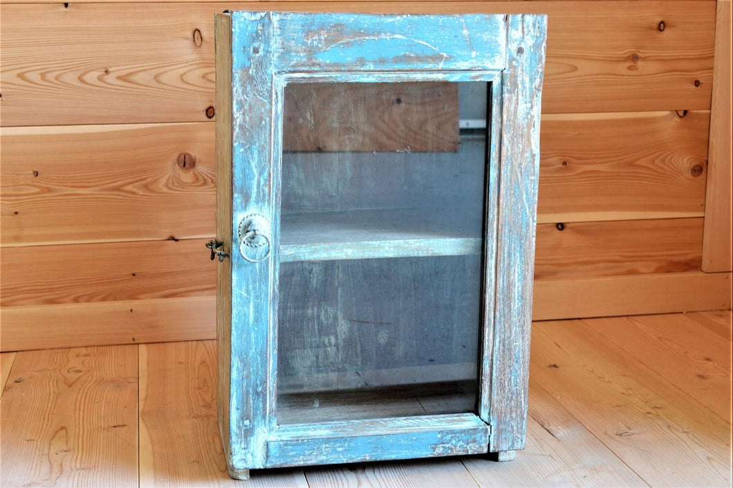 Reclaimed Wood Medicine Cabinet | DemXx Online - Blue Distressed