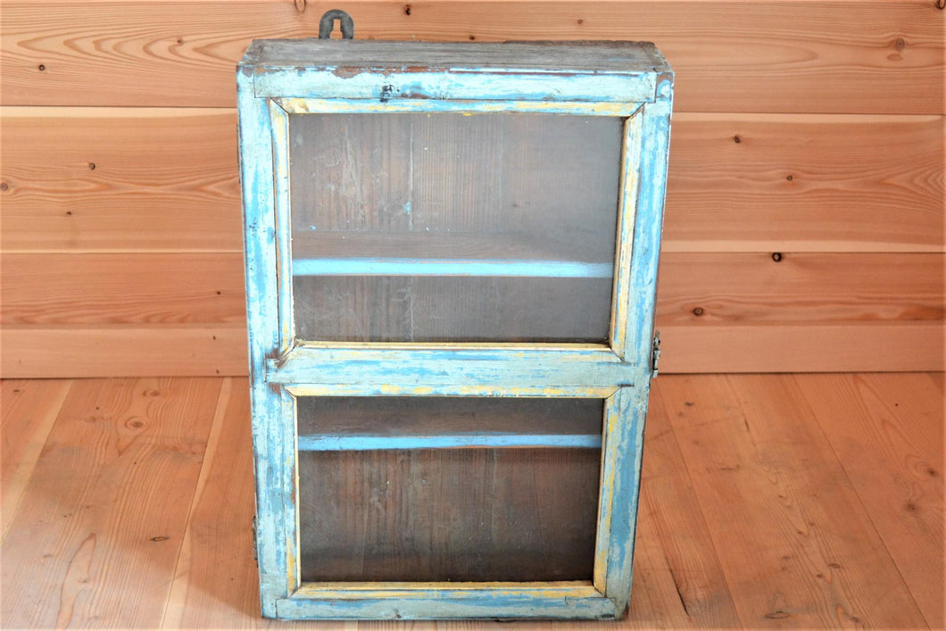 Reclaimed Medicine Cabinet | Distressed Turquoise